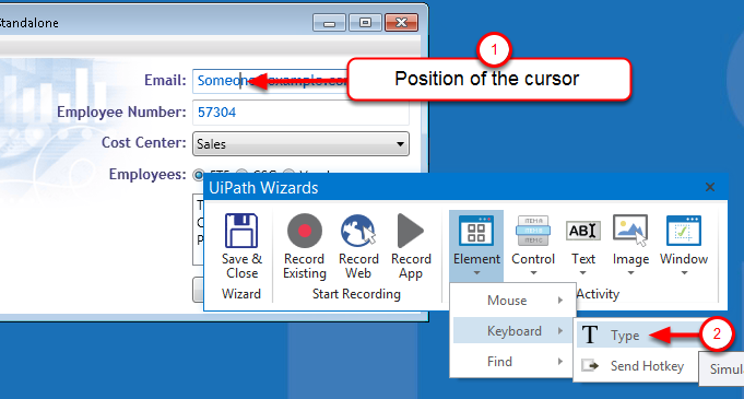 How to send mouse click events and keyboard inputs to