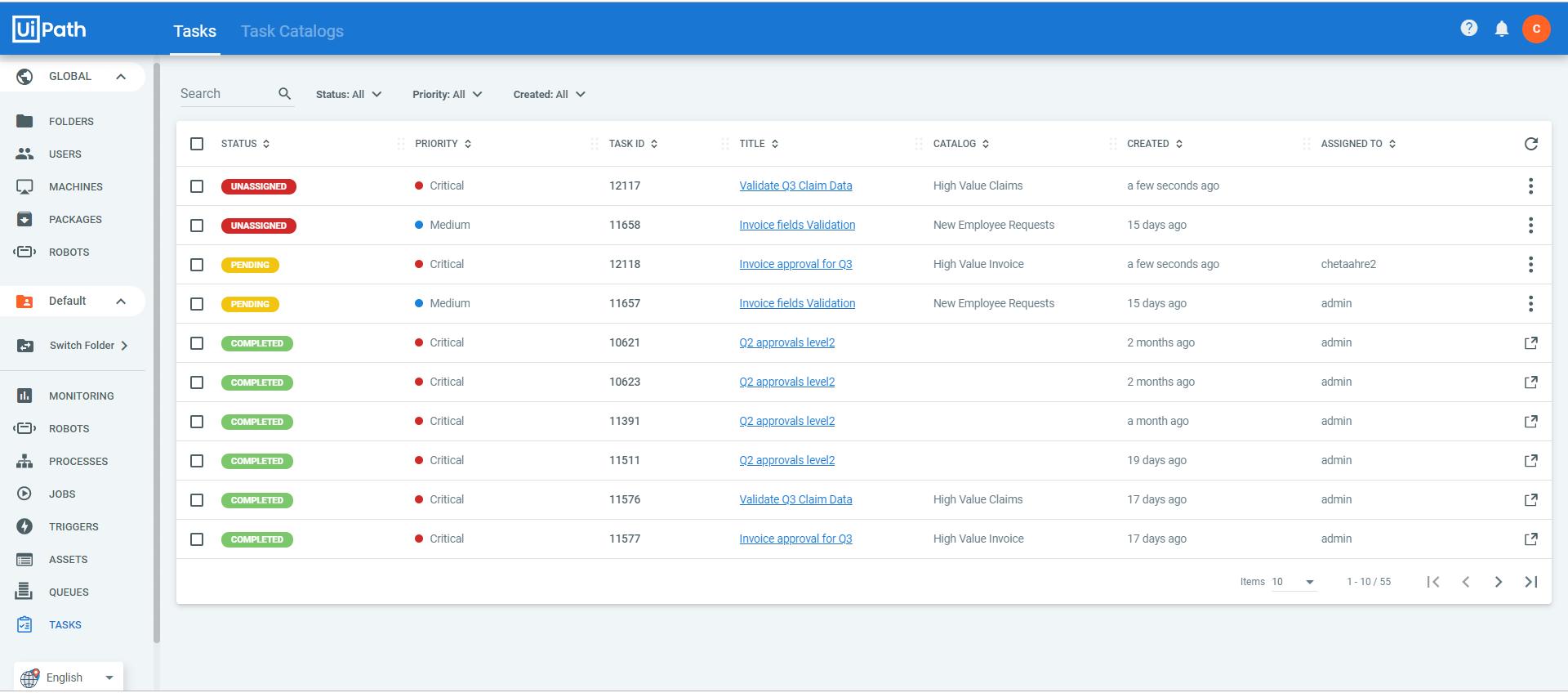 Tasks-inbox-uipath-apps
