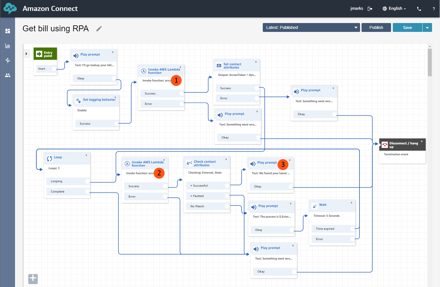 contact-flow-uipath-amazon-connect