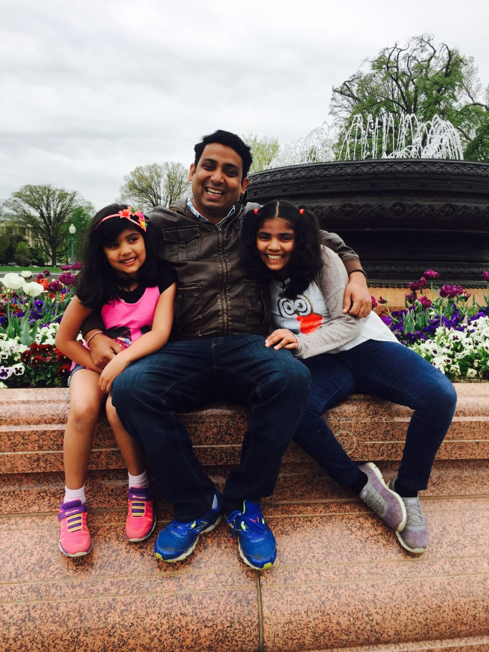 Anupam and his daughters
