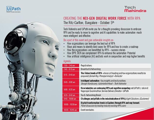 UiPath and Tech Mahindra present 'Creating the Next-Gen