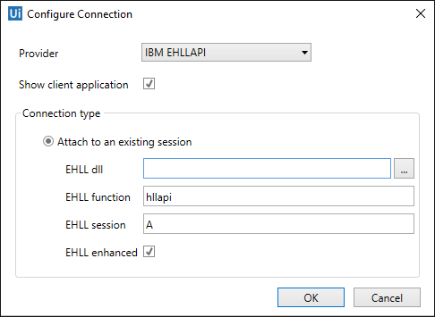 IBM EHLLAPI Configuration