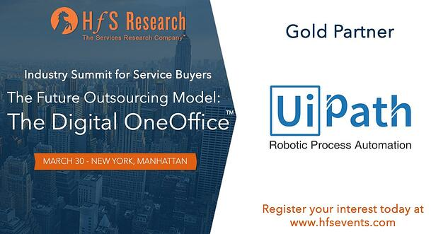 UiPath is a Gold Sponsor at the HfS OneOffice NY Summit