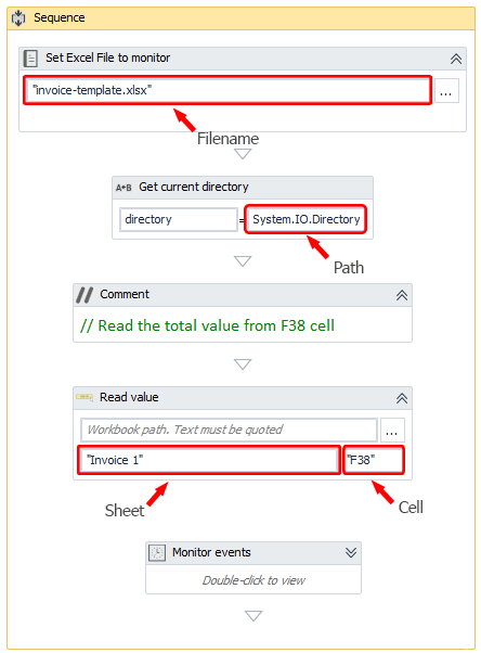 UiPath(RPA): Excel triggers - Get notified when a cell is