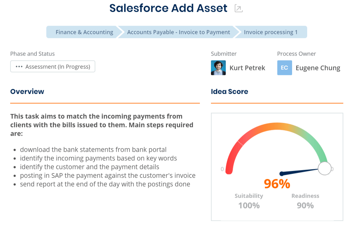 Salesforce Add Asset