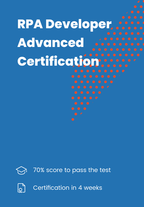 RPA Developer Advanced CERTIFICATION