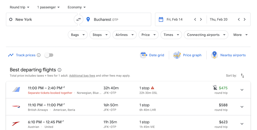 google-flights-api-integration