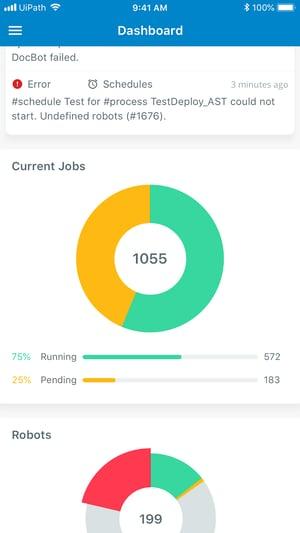 orchestrator mobile app dashboard