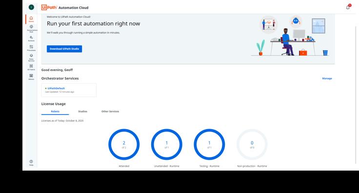 UiPath Automation Cloud Focus on automation