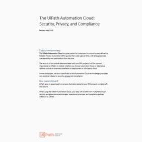 UiPath Automation Cloud Security Privacy Compliance