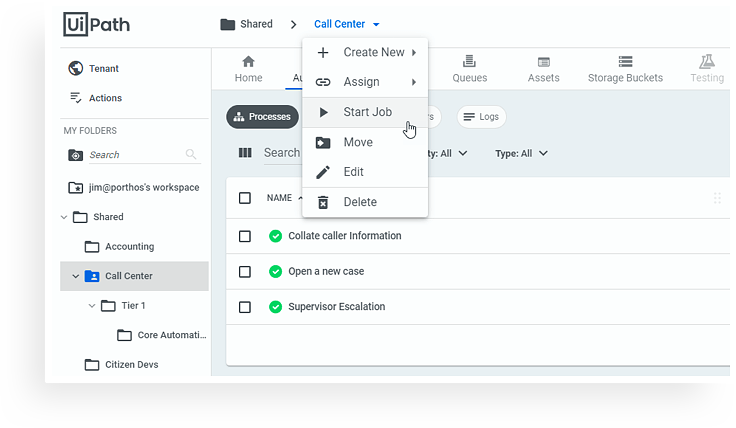 UiPath Orchestrator new interface