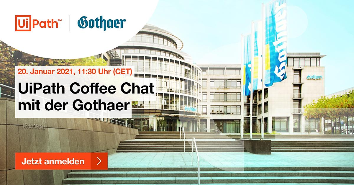 UiPath Coffee Chat mit der Gothaer