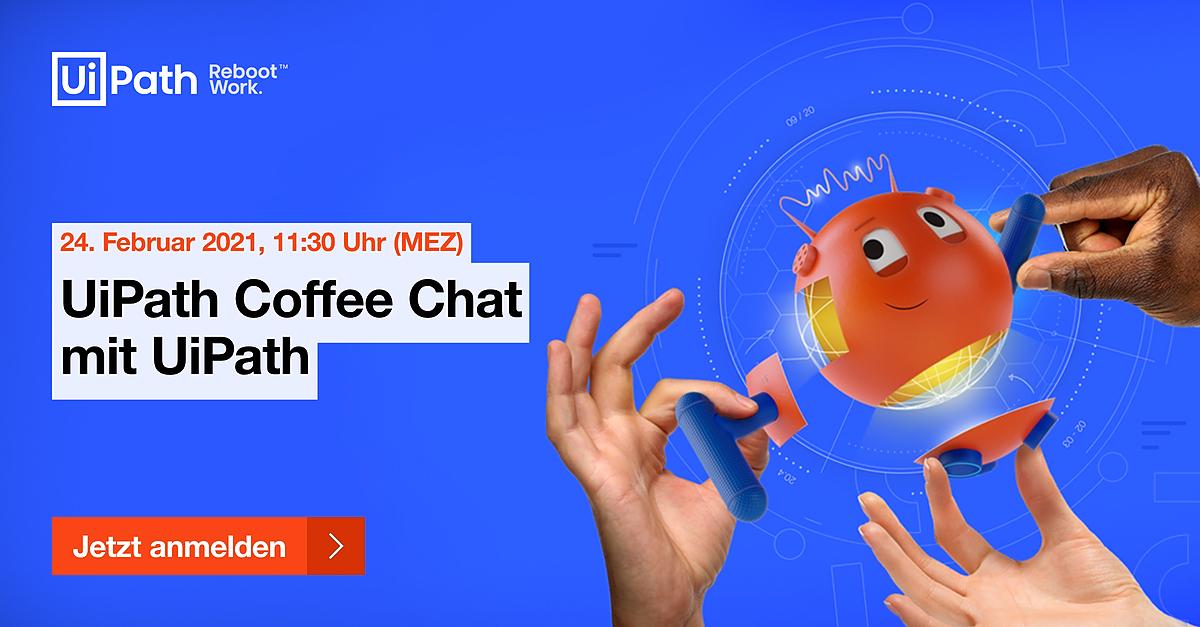 UiPath Coffee Chat mit UiPath