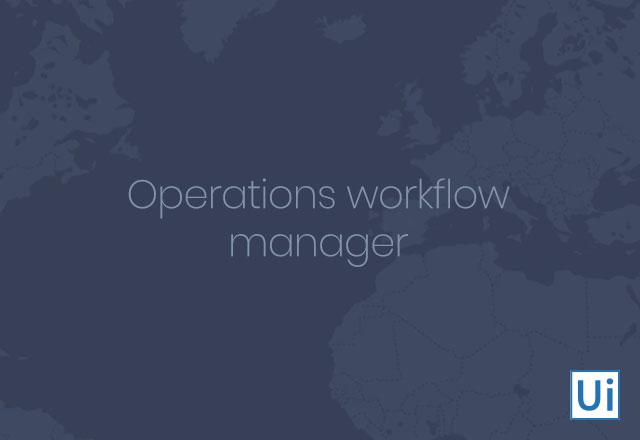 Operations Workflow Manager