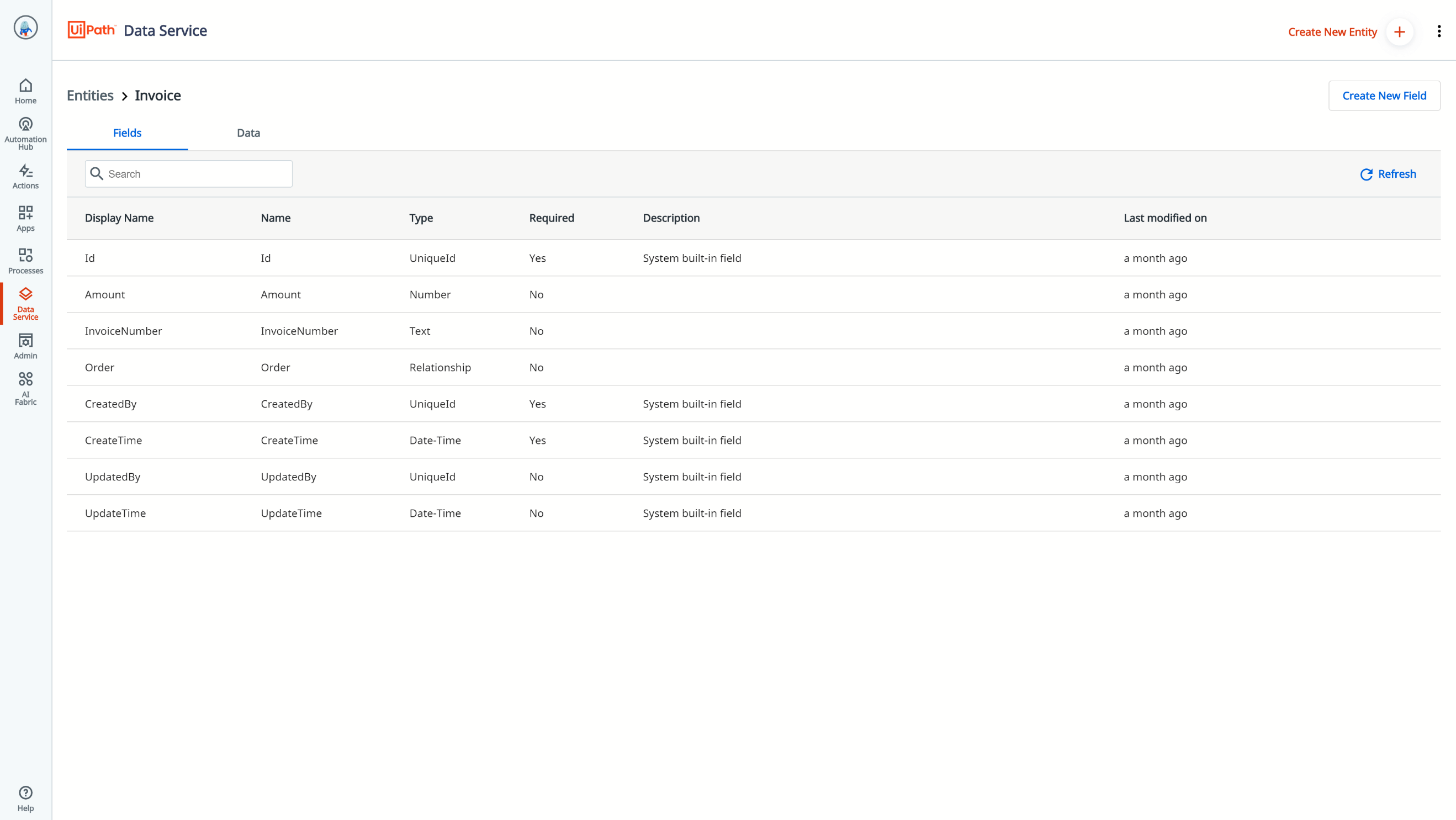 uipath-data-service